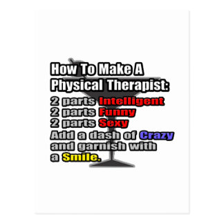 How To Make a Physical Therapist Postcard