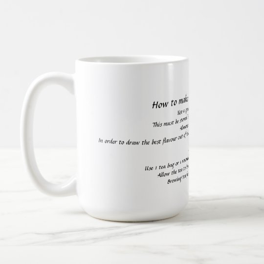 """How to make the perfect cup of tea"" mug"