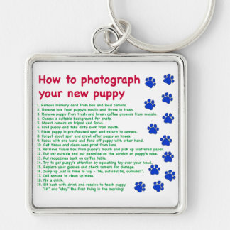 How to photograph your new puppy keychain
