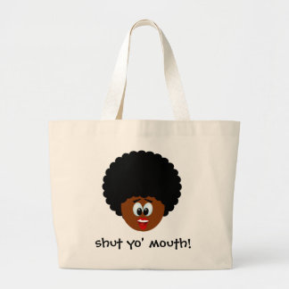 How to politely suggest that someone stop talking tote bags