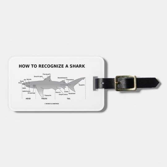 How To Recognise A Shark (Biology Humour) Luggage