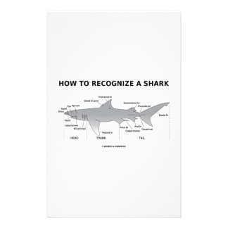 How To Recognize A Shark (Biology Humor) Customised Stationery