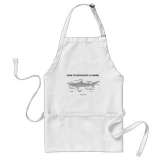 How To Recognize A Shark (Biology Humor) Standard Apron