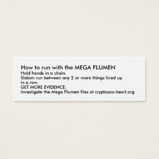 How to run with the MEGA FLUMEN Mini Business Card