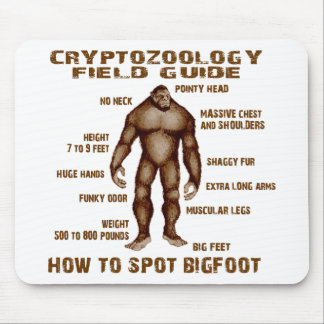 HOW TO SPOT BIGFOOT - Cryptozoology Field Guide Mouse Mat