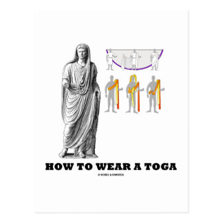 How To Wear A Toga Clothing Instructions Postcard