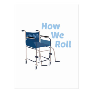 How We Roll Postcard