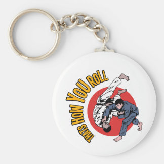How YOU Roll Basic Round Button Key Ring