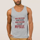 """""""How You See Me"""" Quote Men's Tank Top"""