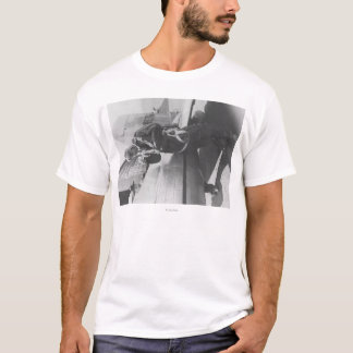 Howard Hughes Pilot Boarding Plane in Full T-Shirt