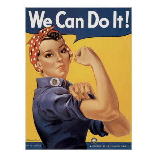 Howard Miller We Can Do It Rosie the Riveter Poster