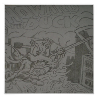 Howard The Duck SOn Of Satan Self Made Drawing Poster
