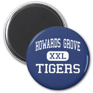 Howards Grove Tigers Middle Sheboygan 6 Cm Round Magnet