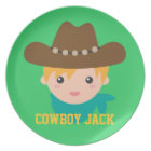 Howdy, Cute Cowboy, For boys Plate