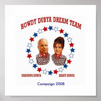 HOWDY DUBYA DREAM TEAM POSTERS