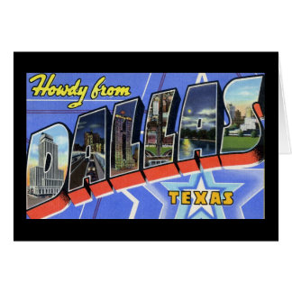 Howdy from Dallas Texas Card