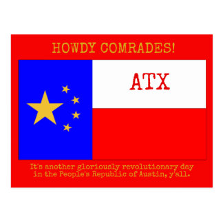 Howdy from the People's Republic of Austin Postcard