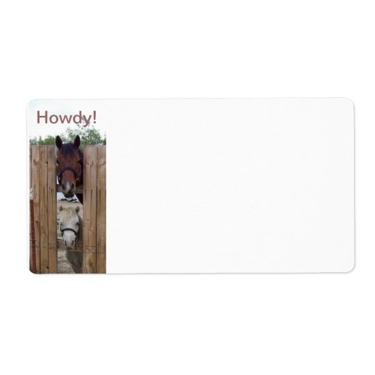 Howdy-Howdy Horse Shipping Labels