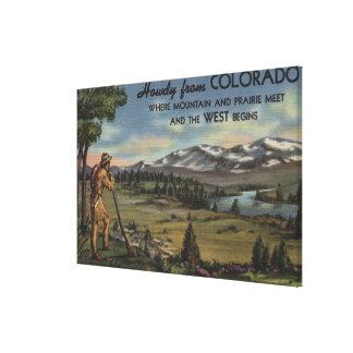 Howdy (Mountain & Prairie Scene) Canvas Print