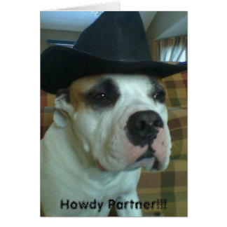 Howdy partner greeting card