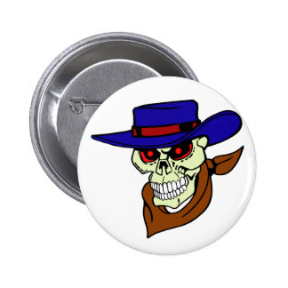 Howdy Skull 6 Cm Round Badge