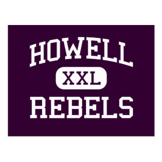 Howell - Rebels - High - Farmingdale New Jersey Postcard