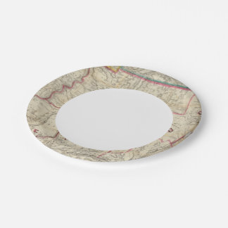 Howe's Map of The Oil District of Pennsylvania 7 Inch Paper Plate