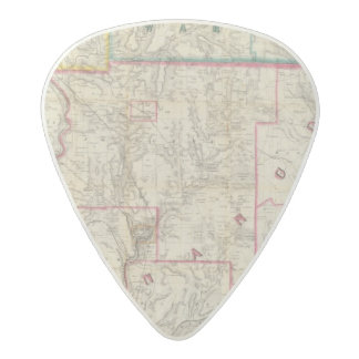 Howe's Map of The Oil District of Pennsylvania Acetal Guitar Pick