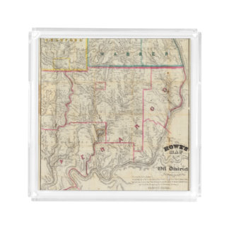 Howe's Map of The Oil District of Pennsylvania Acrylic Tray