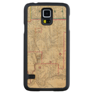 Howe's Map of The Oil District of Pennsylvania Carved Maple Galaxy S5 Case