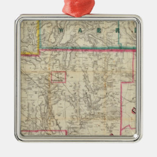 Howe's Map of The Oil District of Pennsylvania Christmas Ornament