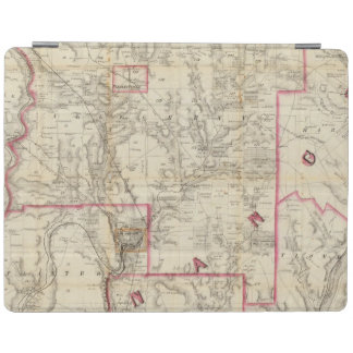 Howe's Map of The Oil District of Pennsylvania iPad Cover