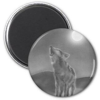 Howl 6 Cm Round Magnet
