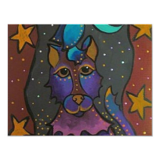 Howl at the Moon 11 Cm X 14 Cm Invitation Card