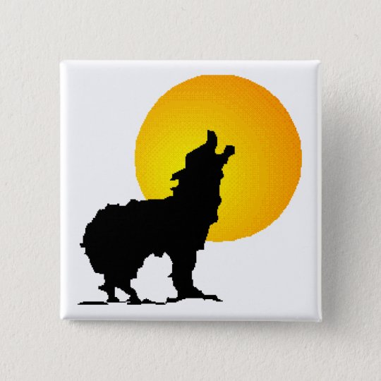 Howl at the Moon 15 Cm Square Badge