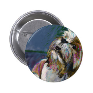 Howl at the moon pinback button