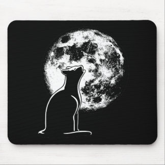 Howl at the Moon Cat Mouse Mat