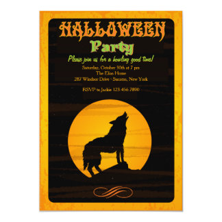 Howl at the Moon Halloween Party Invitation