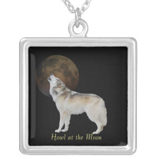 Howl at the moon silver plated necklace