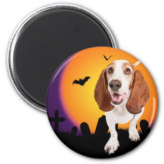 HOWL O Ween 6 Cm Round Magnet