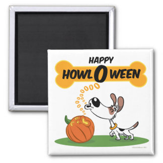 Howl O Ween Square Magnet