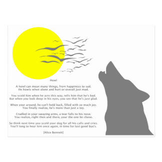 Howl Post Card