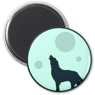 Howl to the Moon 6 Cm Round Magnet