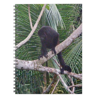 Howler Monkey and Baby Monkey in Costa Rica Jungle Notebook