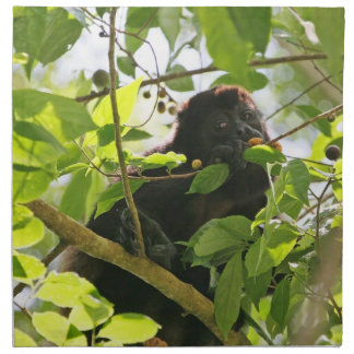 Howler Monkey Eating in the Jungle Napkin