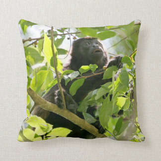 Howler Monkey in the Jungle Photo Throw Pillow