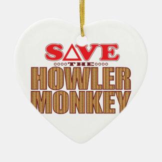 Howler Monkey Save Christmas Ornament