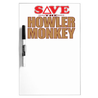 Howler Monkey Save Dry Erase Board