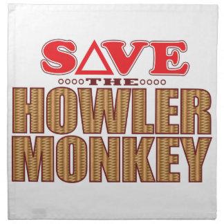 Howler Monkey Save Napkin