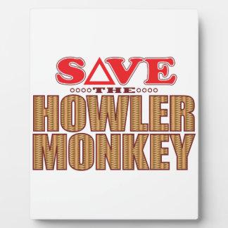 Howler Monkey Save Plaque